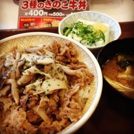 松屋今年的「秋季限定」- 雜菇牛丼 -