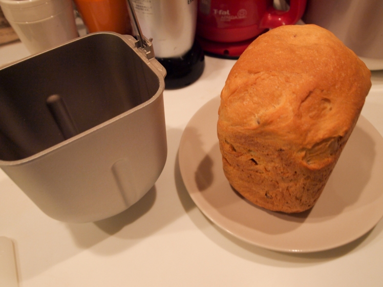 Fresh bread and container