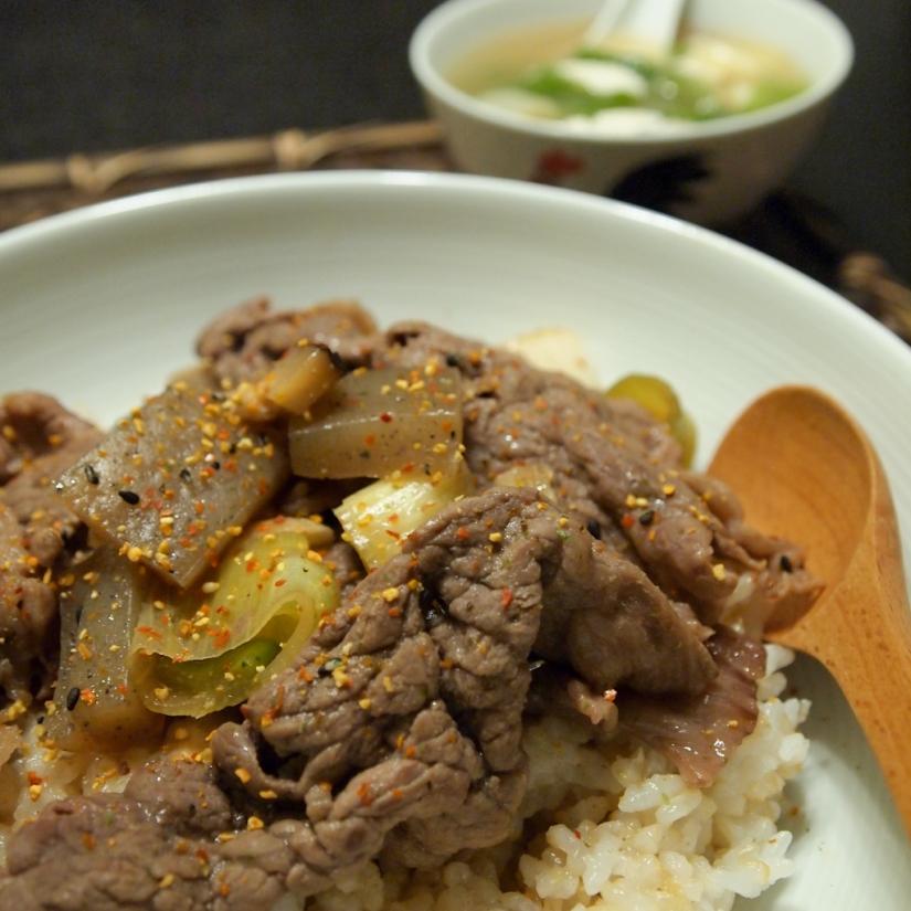 《男の料理》﹣ 牛丼