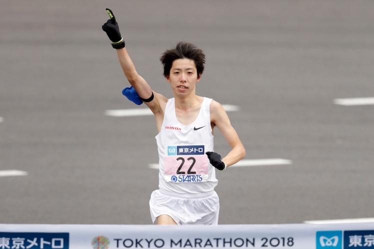 東京マラソン2018 ゴール 設楽悠太が日本新記録